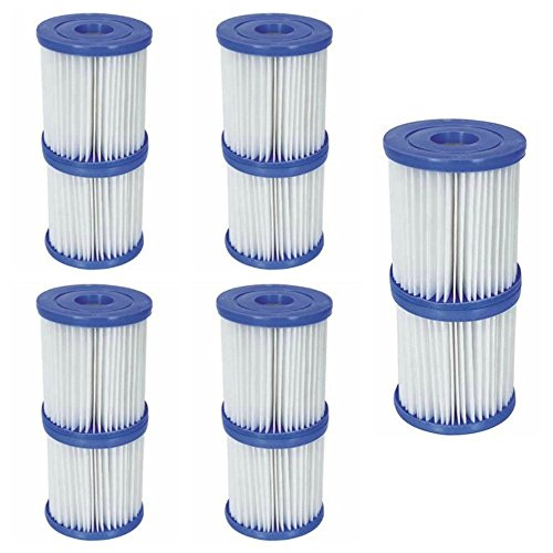 Bestway Flowclear, Größe II, Filter-Kartusche, 10,7 x 13,7 cm für Swimmingpools, 10 Filters