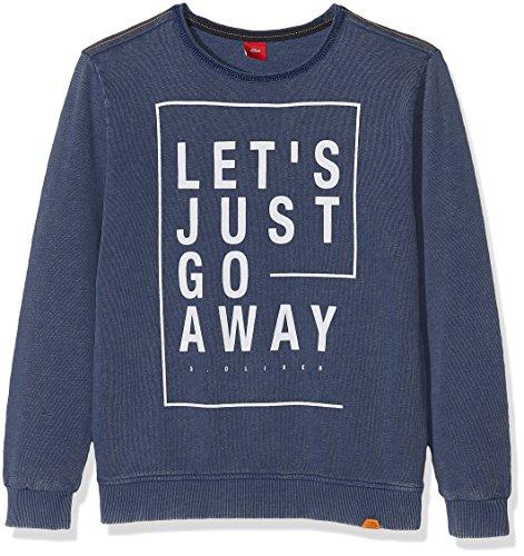 s.Oliver Jungen Sweatshirt 61.708.41.3194, Blau (Dark Blue 5792), 164 (Herstellergröße: L/REG)