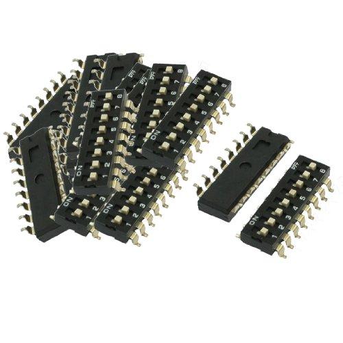 Aexit 21 Pcs 2.54mm Pitch 8 Posiciones Estilo DIP