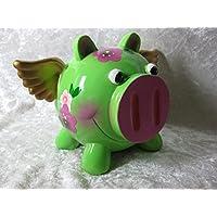 Preisvergleich für Spardose Sparschwein Sparbüchse Dekoration Schwein mit Flügel Glücksschwein