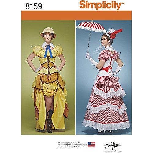 Simplicity Muster 8159Misses 'Cosplay Kostüme mit Korsetts Schnittmuster, -