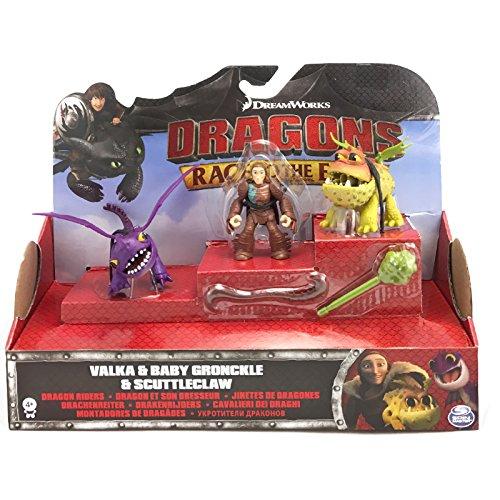 Dragons - Action Spiel Set - Baby Drachen Gronckle, Scuttleclaw Valka