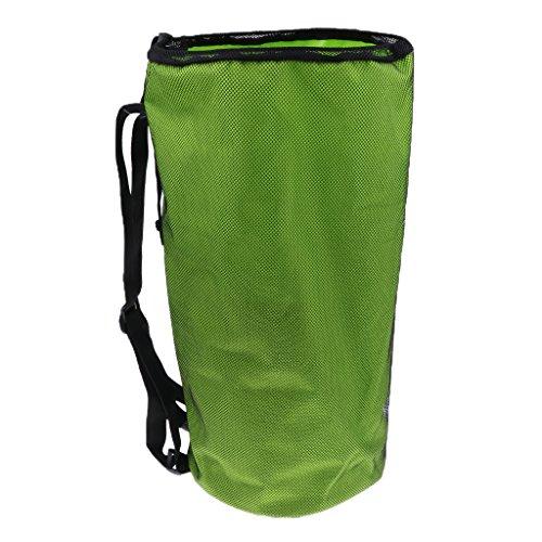 MagiDeal Balltasche / Ballsack / Rucksack für 2 Basketbälle oder Fußbälle - Grün (Ball-eimer Tasche)