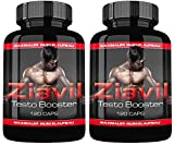 Ziavil 2er Pack By VargPower | Testo Booster Extreme | 240 Power Kapseln | Muskelaufbau Paket | Kraft Phase | Made in Germany | Hohe Verfügbarkeit