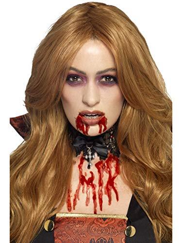 Herren Fake Blood dickflüssiges Blutgel als Schminke und Make Up, Kostüm Accessoires Zubehör, perfekt für Halloween Karneval und Fasching, Rot ()