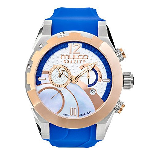 Watches MULCO Women's Collection, Gravity IOS Blue King, Silicone Strap, Stainless Steel Case, Analog, Quartz Swiss, Water Resistant