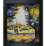 overstockart Place des Läuse gerahmt Öl Reproduktion eines Original Gemälde von Henri Matisse, New Age Holz Rahmen, Schwarz Finish
