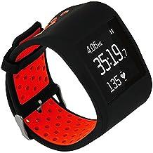 TRUMiRR pour Fitbit Surge Bande De Montre, Double Couleur Silicone Rubber Band Housse De Protection avec Sangle Sport Case Cadre pour Fitbit Surge Fitness Smart Watch Superwatch