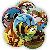3 x Softball Ball Weich Tiermotive Tiere 60 mm sortiert