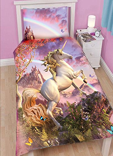 Wild Star Hearts  Awesome Unicorn  Bedding   Pillow Case Set  Single Bed. Unicorn Bedroom  Amazon co uk