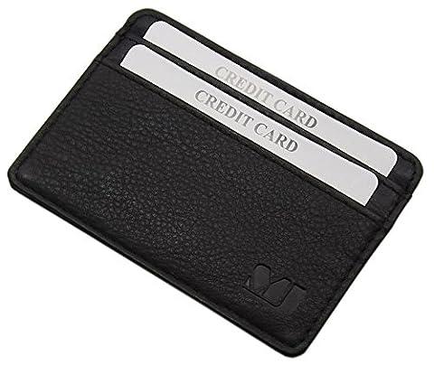 Extra plate et petit cuir porte cartes de crédit MJ-Design-Germany en 3 différentes couleurs