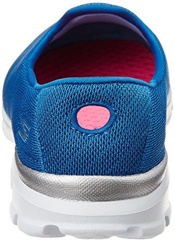 Skechers Go Walk 3 Insight, Baskets Basses Femme, Rose Bonbon, Various Blau (Blu)