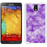 Slim cover case for Galaxy Note 3 Case, Spigen Slim Armor for Galaxy Note 3 - Retail Packaging - Soul White Philippians 413 Religious Bible Verse Inspirational Snap-On White Jesus Christ Samsung Galaxy Note 3 Case White Cover