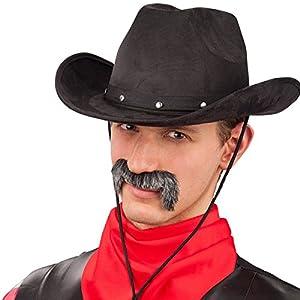 Carnival 06117 - Sombrero de vaquero de lujo, Alcantara, Brown