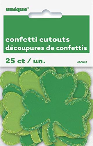 Unique Party Supplies Konfetti für St. Patrick's Day, Shamrock, Kleeblatt, Dekoration, 25 Stück