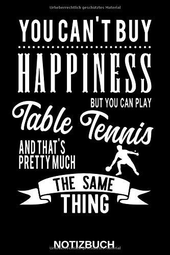 Tischtennis Verein Spieler - Notizbuch: Das perfekte Geschenk Notizbuch mit Softcover und englischem Spruch für jeden der die Sportart Tischtennis ... liniert, 6x9 Zoll für Notizen in der Schule,