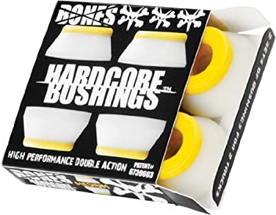 Bones Hardcore 4pc Medium White/Yellow Bushings by Bones Wheels & Bearings