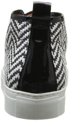 Espace Frisso, Baskets mode femme Noir (Verni Noir Rafia Fox)