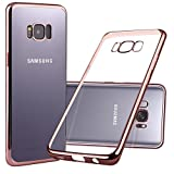 Coque Galaxy S8 Plus, S8 Plus Coque, Nakeey TPU Housse en Silicone S8 Plus [Anti-Choc Anti-Rayures] Bumper avec protection pour Coque Samsung Galaxy S8 Plus Case Cover - Rose Gold