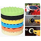 Itian Tampón para pulir - 8 Piezas 7 Pulgadas Para Pulir / Esponja de Pulido Para el Coche Encerado Lijado, Esponjas para pulido o encerado de coches