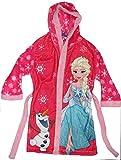 Disney Frozen Die Eiskönigin Mädchen Bademantel mit Kapuze (122, Pink)