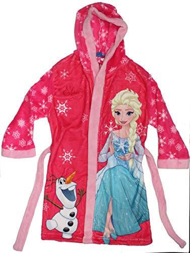 Disney Frozen Die Eiskönigin Mädchen Bademantel mit Kapuze (110, (Die Frozen Disney)