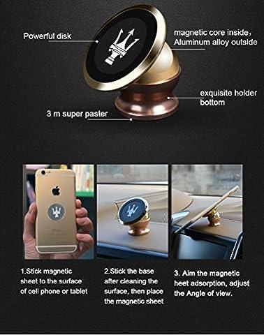 Handy Halter Magnet Auto Halterung für Air Vent Herstellergarantie funktioniert mit alle Handys iPhone 6/6Plus/5/5S/5C/4/4S, Samsung Galaxy S6/S5/S4/Note 4/3und alle anderen Smartphones & GPS Geräten–Beste in Auto Handy Halter + Halterungen Ihr Handy Schnell und sicher & Sicher in einem Augenblick mit einer Hand