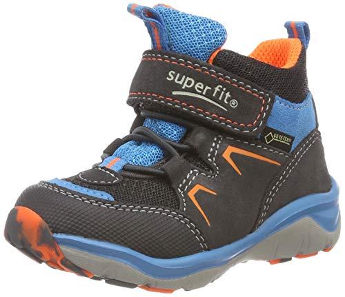 Superfit Jungen SPORT5 Hohe Sneaker, (Grau/Orange 20), 31 EU