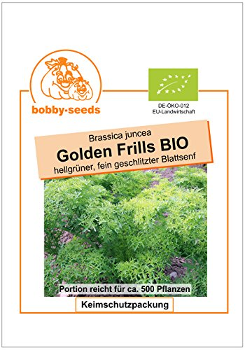 Bobby-Seeds Bio-Salatsamen Golden Frills, Blattsenf Portion