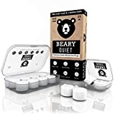 Ear Plugs for Sleeping by Beary Quiet - 6 Pairs (4 Pairs + 2 Free Pairs) - Custom Fit Reusable Soft Silicone Earplugs - The Best Ear Plugs for Sleeping