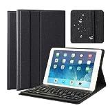 Clavier Bluetooth AZERTY français 9.7' iPad Housse Coque Stand Pochette de Protection pour iPad 2017 9.7', iPad Pro 2017 9.7', iPad Air 1, iPad Air 2, Fonction Sommeil Réveil Automatique