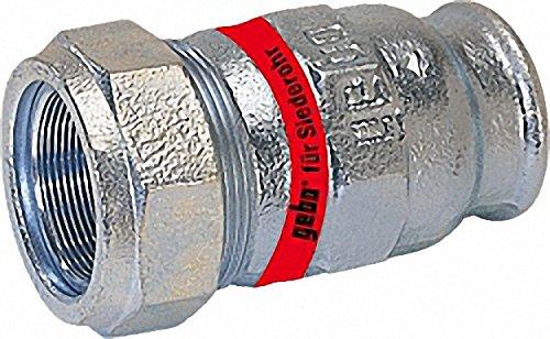 GEBO Temperguss-Klemmverbinder mit IG Wasser PN10- Typ I 2'' Stahlrohr x 57-0mm Siederohr
