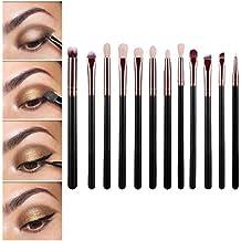 Tongshi 12 piezas pincel de maquillaje cosmético del cepillo Sets Kits de Herramientas