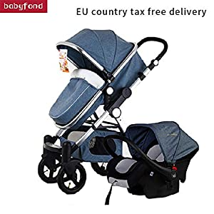 Stroller 3-in-1 Folding Stroller Travel Baby Blue   9