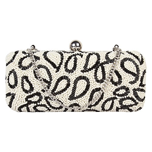 PAINT GENUINE LEATHER BEADED CLUTCH(PT2152CL126)