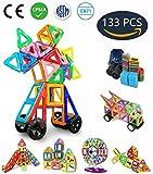 Jasonwell Magnetische Bausteine 133 Teile Magnete Bauklötze Konstruktion Blöcke Bausatz Kreative Spielzeuge Kinder Kleinkind Mädchen Jungen Riesenrad Aufbewahrungstasche Tolles Weihnachtsgeschenk