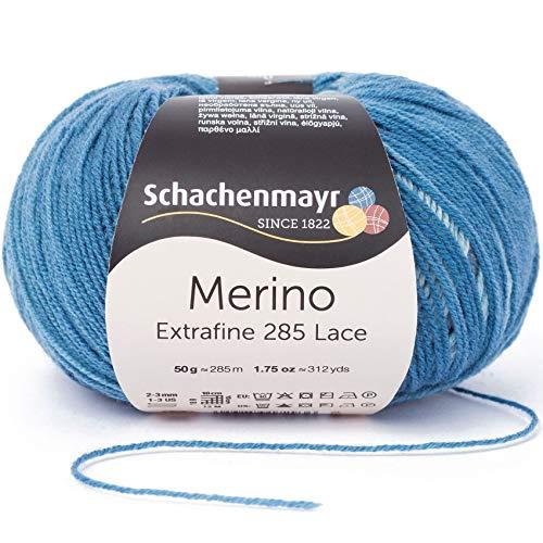 Schachenmayr Merino Extrafine 285 Lace 9807574-00583 denim Handstrickgarn, Häkelgarn, Lacegarn, Schurwolle -