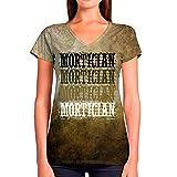 Photo de Idakoos Mortician Retro Vintage 3D - T-Shirt Col V Femme Polyester Nouveauté 2XL par Idakoos