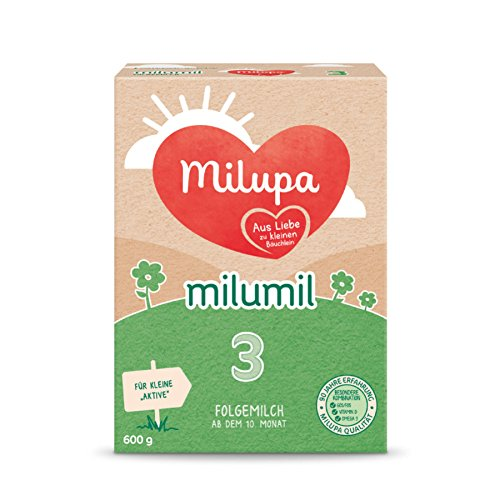 Milupa Milumil 3 Folgemilch - mach dem 6. Monat, 600g, 4er Pack (4 x 600g)