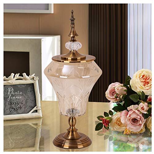 Unbekannt LXF Vintage Crystal Glass Vase kreative Wohnzimmer TV Cabinet Modell Zimmer getrocknete Blumen eingefügt Vase (Size : A) Crystal Glass Vase