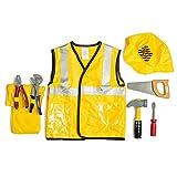 Dress Up America Kids Travailleur de la Construction Jeu de rôle Dress Up Set Âge 3-7