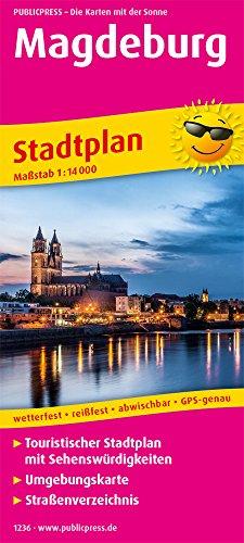 Magdeburg: Touristischer Stadtplan mit Sehenswürdigkeiten und Straßenverzeichnis. 1 : 14 000 (Stadtplan / SP)