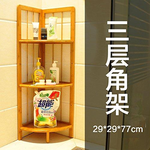 Nan bamboo angolo cucina per montaggio a rack solido treppiede soffitto in legno staffa ad angolo Mensola per bagno-Tier 3 , E-mail di livello pacchetto staffa ad angolo