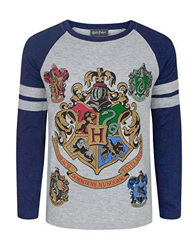 Harry Potter Hogwarts Boy\'s Raglan T-Shirt (13-14 Years)