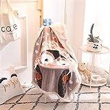 X-Labor Flauschig Weich Kuscheldecke Kinder Kartoon Plüsch 100x140 cm Babydecke Fleecedecke Sofadecke Wohndecke Wolldecke Tagesdecke Eule