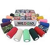 12 Haftbandagen Größe+Farbe wählbar - selbsthaftende Bandage Fixierverband selbstklebend