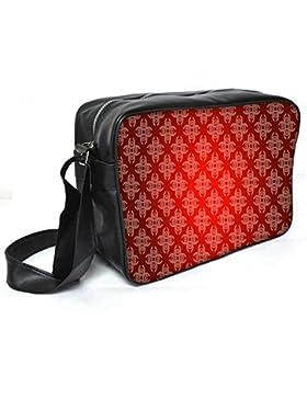 Snoogg gemischt Farbe Spots Leder Unisex Messenger Bag für College Schule täglichen Gebrauch Tasche Material PU