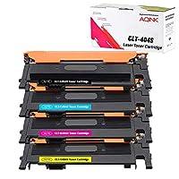 AQINK 4-Pack Compatible 404S CLT K404S P404C CLT-K404S CLT-C404S CLT-M404S CLT-Y404S Toner Cartridge for Samsung SL-C430 Toner Samsung Xpress C430W C480W Toner Samsung C480FW C430W (BCMY)