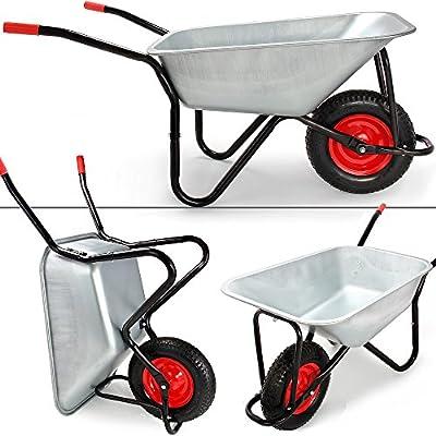 Schubkarre 100 Liter verzinkt - Transportwagen Gerätewagen Gartenkarre von Deuba® bei Du und dein Garten
