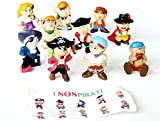10 Piratenfiguren